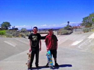 Cousins. Axel  & Emmett. New Mexico, April 2015.